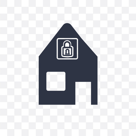 Locking vector icon isolated on transparent background, Locking logo concept 向量圖像