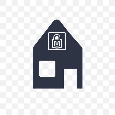 Locking vector icon isolated on transparent background, Locking logo concept Illustration