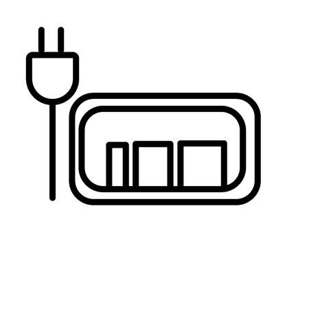 Vecteur d'icône de batterie chargée isolé sur fond blanc pour la conception de votre application web et mobile, concept de logo de batterie chargée Logo