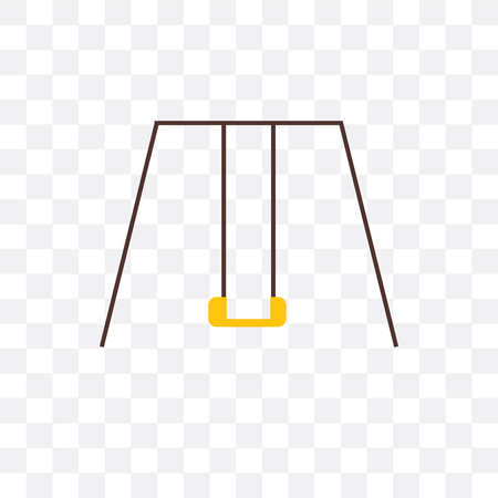 Swing vector icon isolated on transparent background, Swing concept