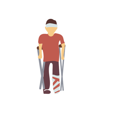 disabled man vector vector isolated on white background for your web and mobile app design, disabled man vector logo concept