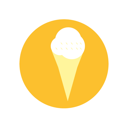 Ice cream icon vector isolated on white background for your web and mobile app design, Ice cream logo concept