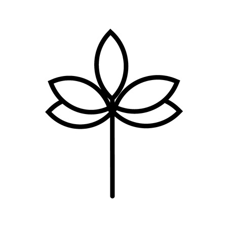 Sprig with five leaves icon vector isolated on white background for your web and mobile app design, Sprig with five leaves concept