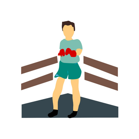Boxer vector vector isolated on white background for your web and mobile app design, Boxer vector logo concept  イラスト・ベクター素材