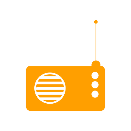 Radio icon vector isolated on white background for your web and mobile app design, Radio  concept Иллюстрация