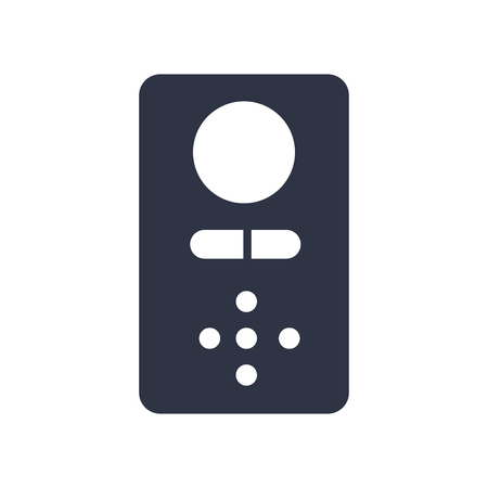 Intercom icon vector isolated on white background for your web and mobile app design, Intercom concept Illusztráció