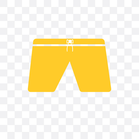Shorts vector icon isolated on transparent background, Shorts  concept Illustration