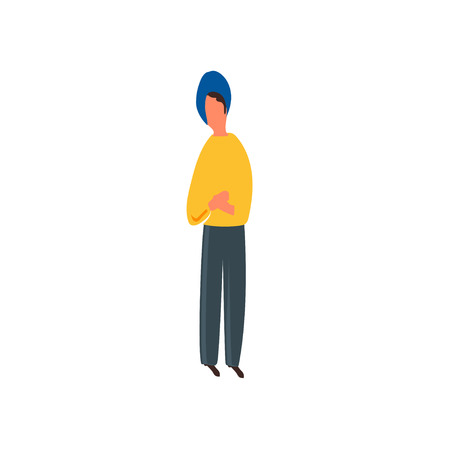 Stehender Mann-Vektorvektor lokalisiert auf weißem Hintergrund für Ihr Web- und mobile App-Design, Stehender Mann-Vektor-Logo-Konzept