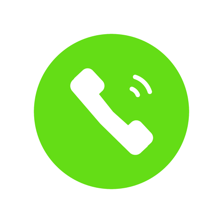 Phone icon vector isolated on white background for your web and mobile app design, Phone logo concept Illustration