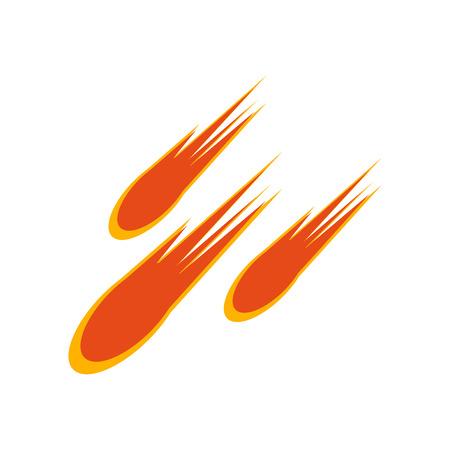 Vecteur d'icône comète isolé sur fond blanc pour la conception de votre application web et mobile, concept logo comète