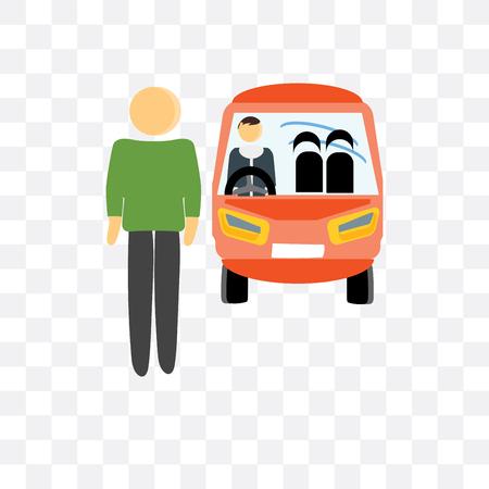 Fahrervektorikone lokalisiert auf transparentem Hintergrund, Fahrerlogokonzept
