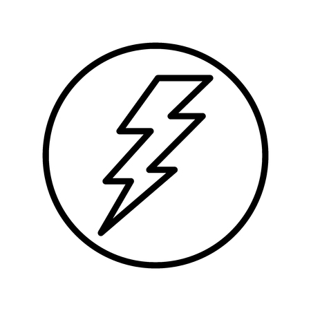 Lightning flash icon vector isolated on white background for your web and mobile app design, Lightning flash logo concept
