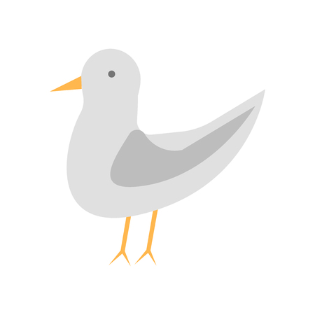 Seagull icon vector isolated on white background for your web and mobile app design, Seagull logo concept Illustration