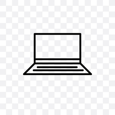 Widescreen laptop vector icon isolated on transparent background, Widescreen laptop logo concept  イラスト・ベクター素材