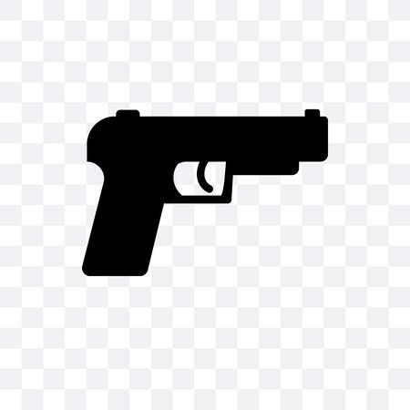 Gun vector icon isolated on transparent background, Gun logo concept