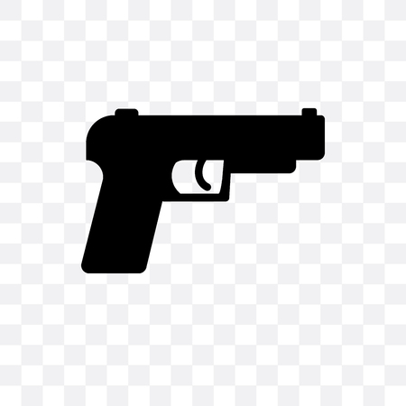 Gun vector icon isolated on transparent background, Gun logo concept