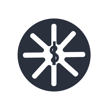 Pharmacy symbol icon vector isolated on white background for your web and mobile app design, Pharmacy symbol logo concept