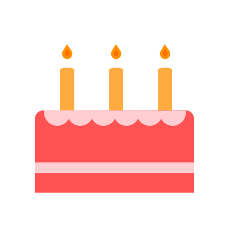 Cake icon vector isolated on white background for your web and mobile app design, Cake logo concept
