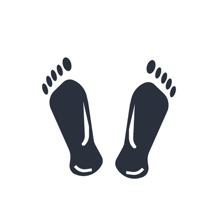 Human feet shape icon vector isolated on white background for your web and mobile app design, Human feet shape logo concept