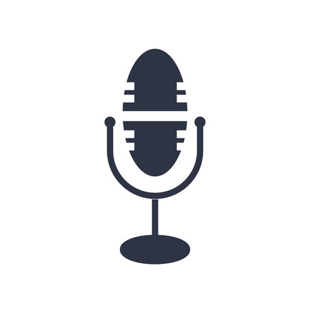 Microphone icon vector isolated on white background for your web and mobile app design, Microphone logo concept