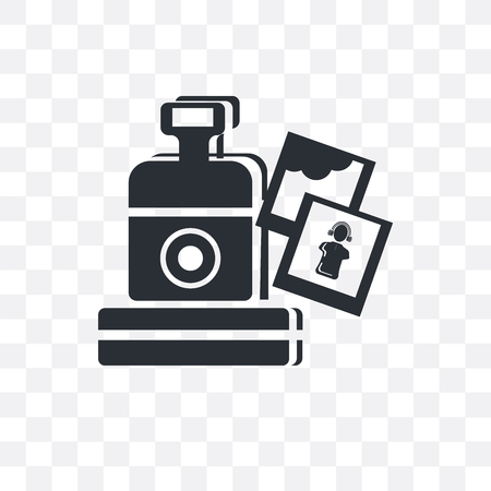 Vintage Digital Camera vector icon isolated on transparent background, Vintage Digital Camera logo concept