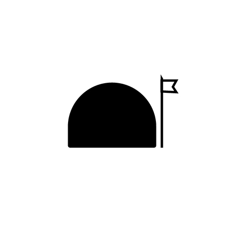 Bunker icon vector isolated on white background for your web and mobile app design, Bunker logo concept