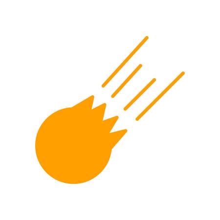 Vector icono de meteorito aislado sobre fondo blanco para su diseño web y aplicaciones móviles, concepto de logo de meteorito