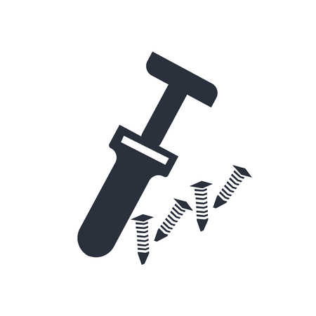 Medical hammer tool icon vector isolated on white background for your web and mobile app design, Medical hammer tool logo concept