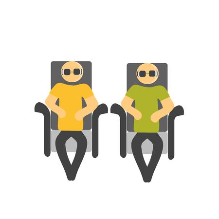 Sentado vector icono aislado sobre fondo blanco para su diseño web y aplicaciones móviles, persona de concepto de logo sentado