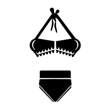 Bikini shape icon vector isolated on white background for your web and mobile app design, Bikini shape logo concept