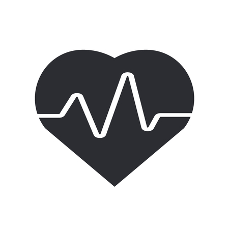 Cardiogram icon vector isolated on white background for your web and mobile app design, Cardiogram logo concept Illustration