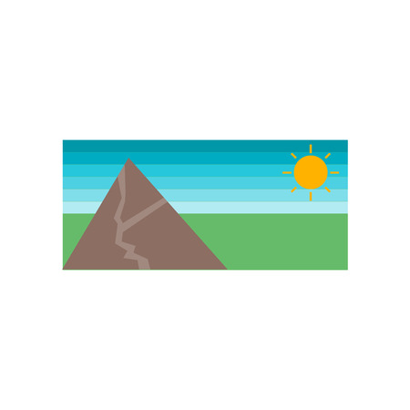 Landscape icon vector isolated on white background for your web and mobile app design, Landscape logo concept