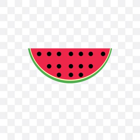 Wassermelonenvektorikone lokalisiert auf transparentem Hintergrund, Wassermelonenlogokonzept Logo