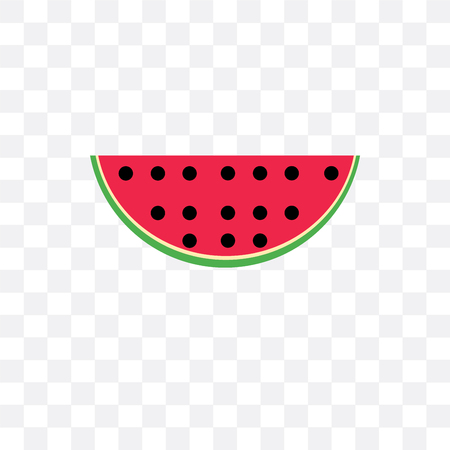 Watermelon vector icon isolated on transparent background, Watermelon logo concept