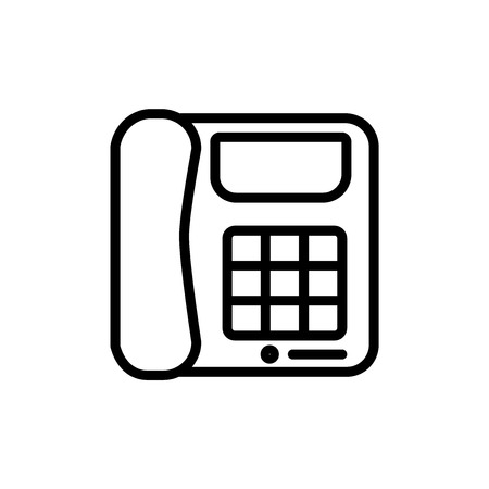 Digital phone icon vector isolated on white background for your web and mobile app design, Digital phone logo concept