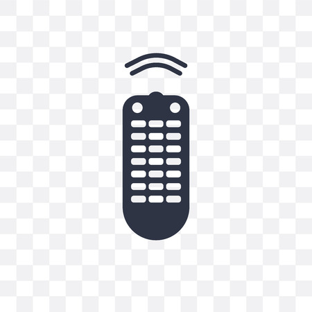 Remote vector icon isolated on transparent background, Remote logo concept