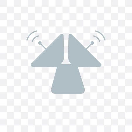 Radar vector icon isolated on transparent background, Radar logo concept Illustration