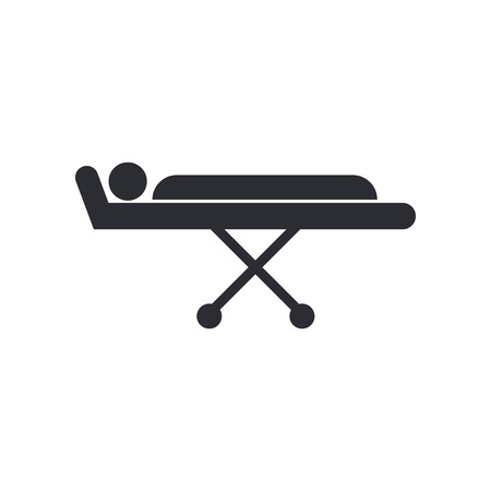 Stretcher icon vector isolated on white background for your web and mobile app design, Stretcher logo concept