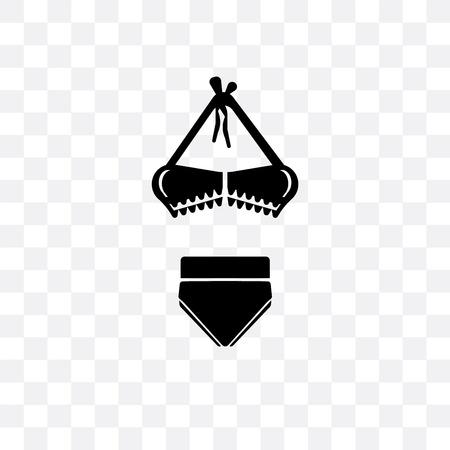 Bikini shape vector icon isolated on transparent background, Bikini shape logo concept Illustration