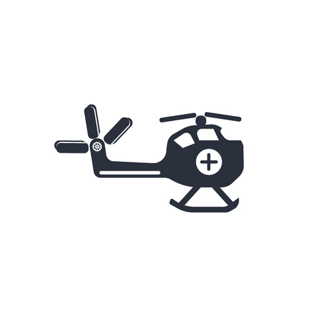 Medical chopper transport icon vector isolated on white background for your web and mobile app design, Medical chopper transport logo concept Illustration