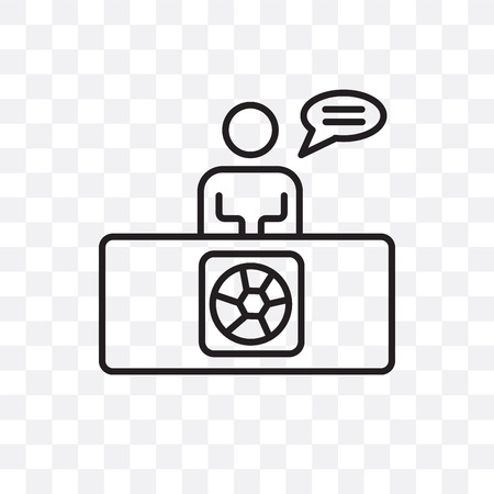 Commentator vector icon isolated on transparent background, Commentator logo concept