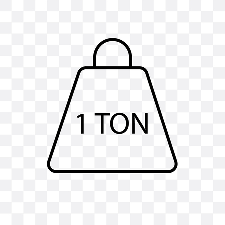 Tonne vector icon isolated on transparent background, Tonne logo concept Vettoriali