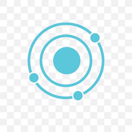 Icono de vector de sistema solar aislado sobre fondo transparente, concepto de logo de sistema solar Logos