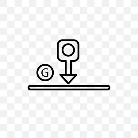Gravity vector icon isolated on transparent background, Gravity logo concept Ilustração