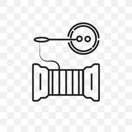 Icona di vettore di cucito isolato su sfondo trasparente, concetto di marchio di cucito