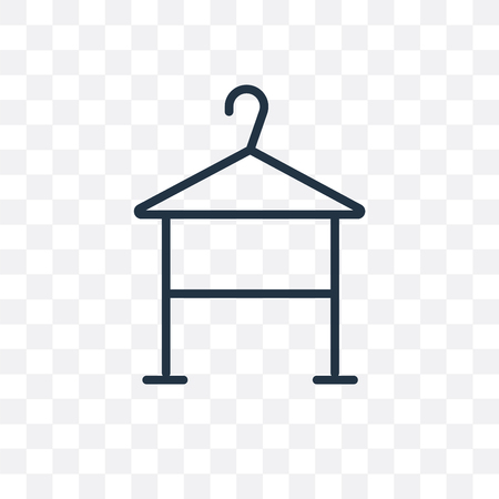 Hanger vector icon isolated on transparent background, Hanger logo concept