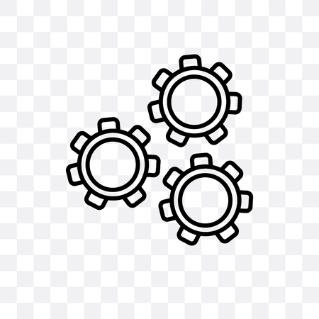 Mechanism vector icon isolated on transparent background, Mechanism logo concept