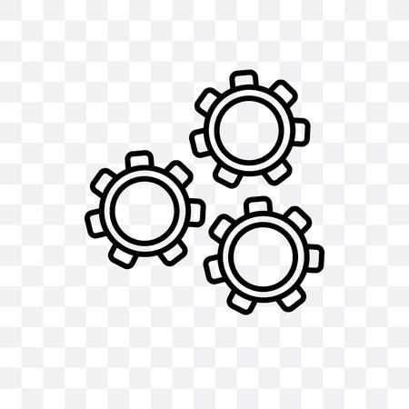 Mechanism vector icon isolated on transparent background, Mechanism logo concept Illusztráció