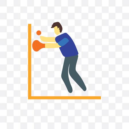 Squash vector icon isolated on transparent background, Squash logo concept Illustration