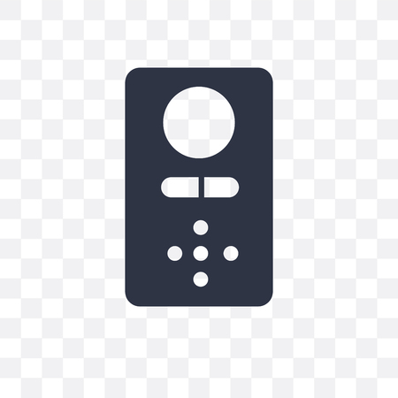 Intercom vector icon isolated on transparent background, Intercom logo concept
